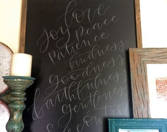 Fruits of the Spirit Chalk Board