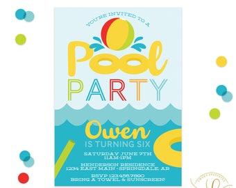 Pool Party Invitation | Swimming Party | Swimming Pool Invitation | Swimming Birthday Party Invitation | Summer Party | Swim Party Invite
