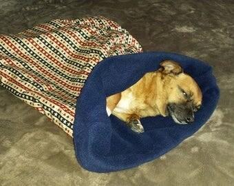 Dog Snuggle sack bed bag blanket.(Stars).