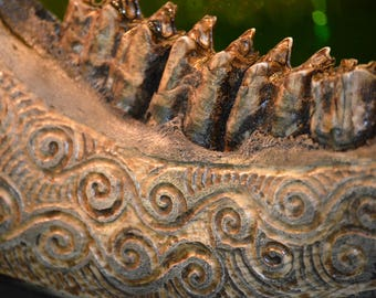 Carved Horse Jaw Bone, Genuine Bone
