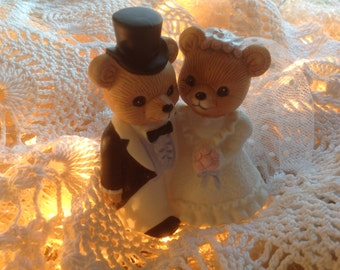 Teddy Bears Wedding Cake Topper Vintage