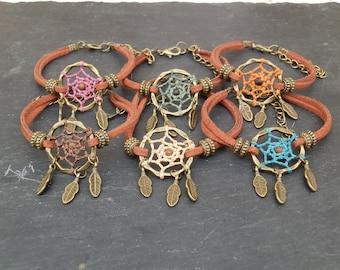 Dreamcatcher Native American bracelet / Bracelet dream catcher Hippie / ethnic / Bronze / handmade