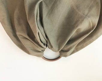 Stone | Ring Sling in Grey-Brown Linen Blend with Bronze Rings