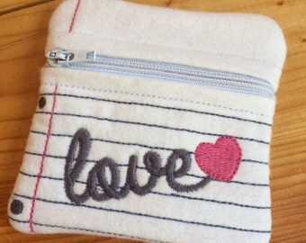 Adorable Handmade Small Zipper Coin Purse