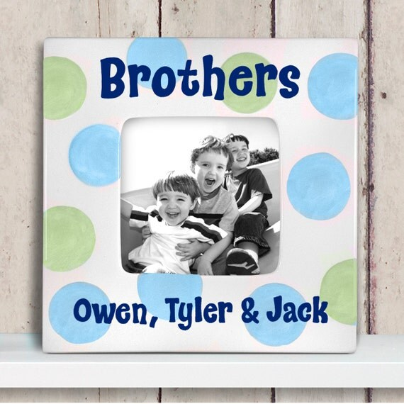 personalized picture frame brothers frame big brother gift from littlewormandcompany on etsy studio
