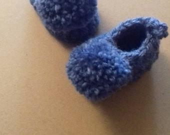 Hand crochet bobble bootie