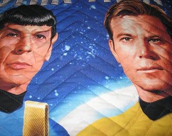 Star Trek Lap Quilt for Kirk and Spock Fans