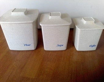 Canister Set,Tucker Houseware, made in the USA, Vintage Kitchen