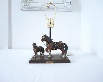 Clydesdale Horse Vintage Table Lamp