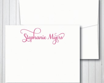 Personalized Stationery - Personalized Stationary - Calligraphy Stationery - Stationery Set - Custom Stationery/Stationary note cards