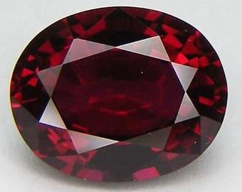 Excellent Cut Oval 10 x 8 mm. Pigeon Blood Red Ruby Lab corundum Loose Gemstone