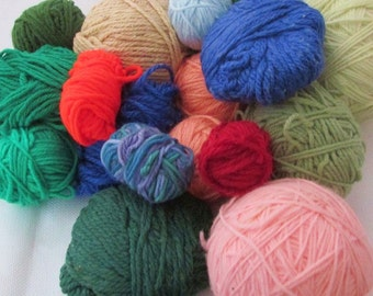 Large Amount of Crochet Yarn in Balls Great for Projects Lots of Colors Ready for PROJECTS to be Made