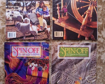 REDUCED - 1996 Full Set of Spin-Off Wool Magazine for Handspinners