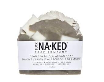 Natural Soap Dead Sea Mud & Argan Soap - Dead Sea Soap, Natural Soap, Mud Soap, Vegan Soap, Cold Process Soap, Detox Soap, Glycerin Soap