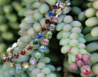 Made to order Jewelry SAME PRICE color or length 4mm Cup Chain Bracelet Anklet Multi-dark or Multi-light Cup chain jewelry