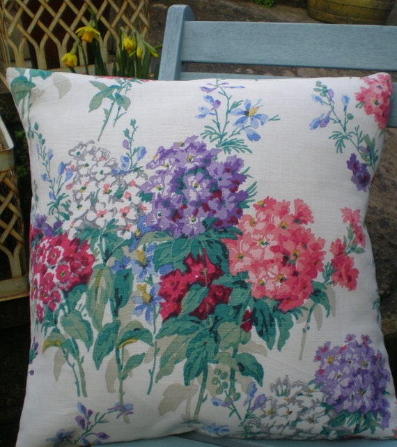 Cushion Cover - Sanderson Sweet Williams - Floral Design