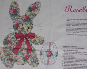 ROSEBUD BUNNY FABRIC Panel