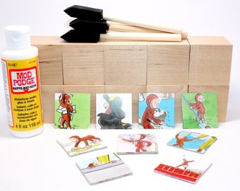 Curious George Diy Baby Block Kit Baby Shower Activity Table Centerpieces Nursery