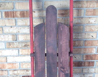 Wooden Sled Decoration