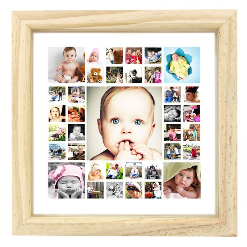 Baby gift Framed Photo Collage Frame Christmas Gift 12 x
