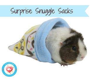 Snuggle Sack | Guinea pig fleece, cage accessories, fleece bedding, pet supplies, ready to ship, free shipping  | Cozy & Clean | Grab Bag