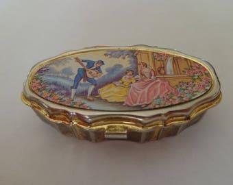Vintage Romantic Pill Divider Pill Box Romantic Setting Small Pill Box Pill Divider