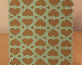 Hearts, Blank Inside Card