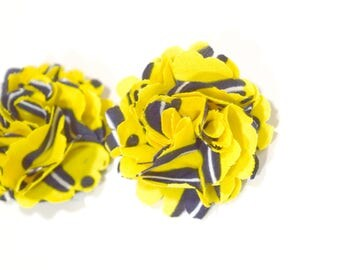 African Print Ankara Flower Pin _ African Fabric Hair Accessory _ African Print _ Hair Accessory _ Fabric Flower Pin