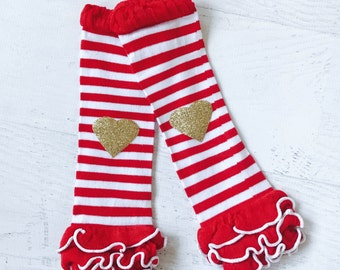 Red Leg Warmers, Valentines Day Leg Warmers, Red Striped Leg Warmers, Girls Leg Warmers, Toddler Leg Warmers, Valentines Outfit, Tutu Dress