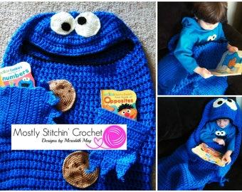 Cuddle-Up Cookie Monster Blanket Pattern; CROCHET PATTERN: PDF
