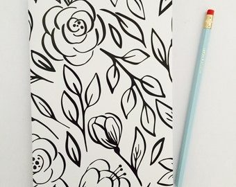 Notebook - Classic Monochrome Floral