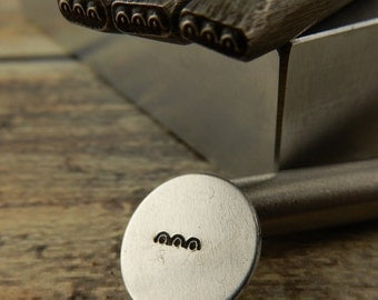 SCALLOPED EDGE Border Metal Stamp 7mm, Scallops with Dots Border Stamp, Scrollwork, Hand Stamping Tool For Metal, Wood, Clay and Leather
