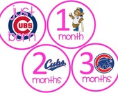 Chicago Cubs Pink Baby Belly Stickers for Girls