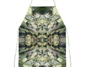 Barbecue Apron:Cannabis Apron in NYC Diesel Marijuana Print, Men's Apron,Women's Apron, Gift Apron,Trimming Apron- Made to Order