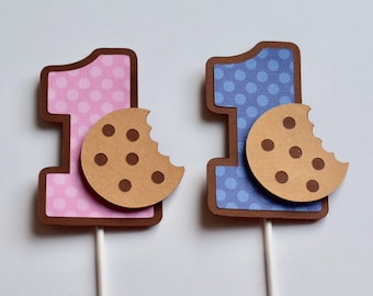 Cookies and Milk Birthday Cake, Smash Cake Topper, First Birthday, Cake Topper, smash cake props, photo props