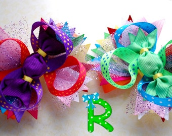 Pigtail bows, candy hair bows, hair clips,  hair bows for girls, hair clips for toddlers, hairbows for candy party