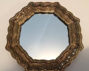 CIJ Wall Mirror Florentine Octagonal  Shape Accent Mirror Vintage