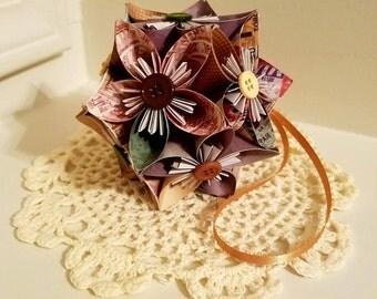 Travel Origami Kusudama Flower Ball