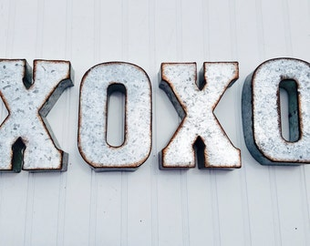 metal letters small metal letters rustic decor rustic letter industrial letters farmhouse decor fixer upper decor