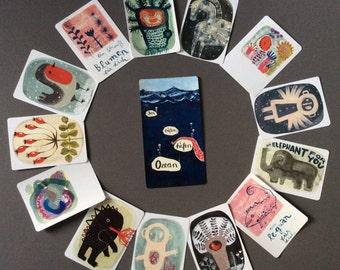 6 ART CARDS - take your FAVORITES