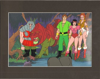 HE-MAN Masters of the universe Original Production Animation Art Cel & Back 2*
