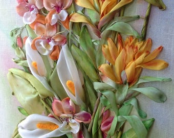 Exotics Collection Silk Ribbon Embroidery