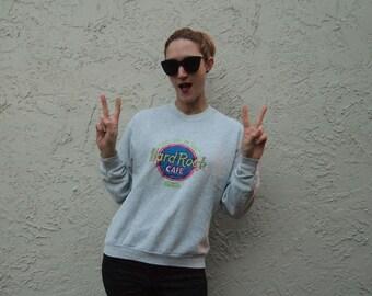 Hard Rock Cafe Paris Retro Sweatshirt Size Medium