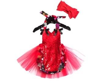 Red Valentine Romper