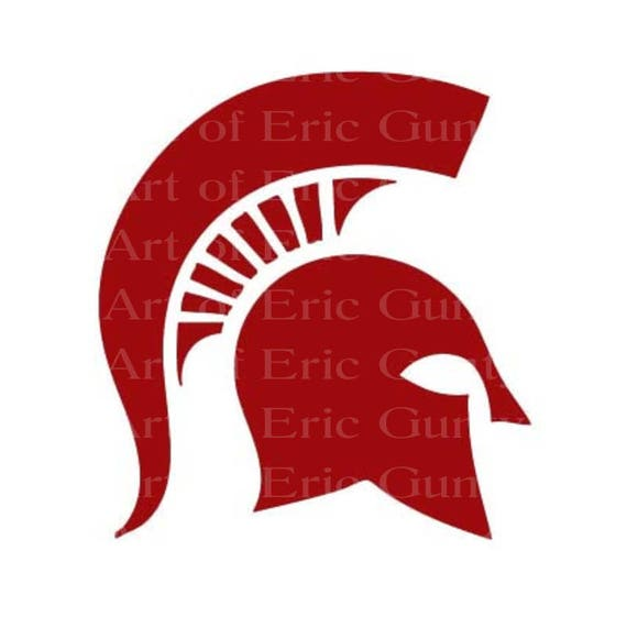 Maroon Spartan Trojan Mascot Birthday - Edible Cake and Cupcake Topper For Birthday's and Parties! - D22470