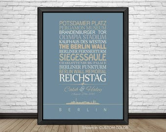 Berlin, Travel Print, Berlin Sightseeing, Famous Places, Travel Destinations, Vacation, Honeymoon, City Prints, Gift for Couples, Art Print