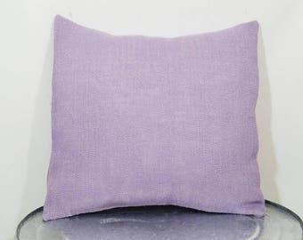 Custom made violet purple, light purple, lilac burlap pillow cover/sham. Multiple sizes to choose from.