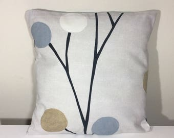 Abstract Cushion Cover 16 Inch Cotton Pillow Cover Contemporary Beige