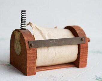 Note Paper Dispenser - Antique Post it Stand - Rustic Kitchen Home Decor
