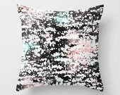 Pillow Cover, White Black Grey Aqua Pink, Home Decor, Accent Pillow Cover, Cushion cover,